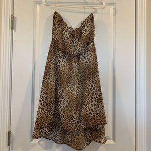 Strapless Cheetah Dress
